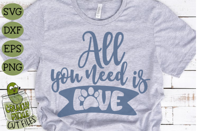 All You Need is Love Cat Paw SVG File
