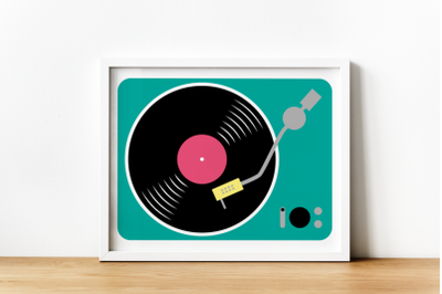 Record Player   SVG   PNG   DXF