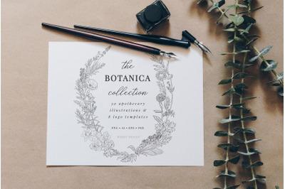 Botanical Apothecary Clipart & Logos