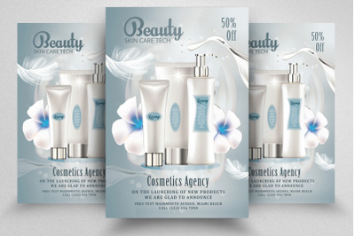 Beauty Cosmetic Sale Offer Flyer/Poster