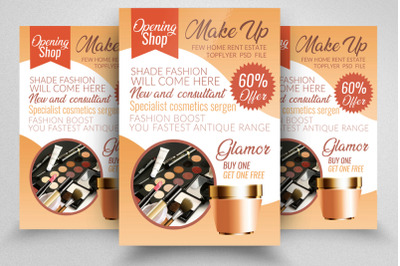 Beauty Cosmetic Flyer Template