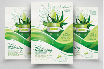 Herbal Whitening Beauty Product Flyer