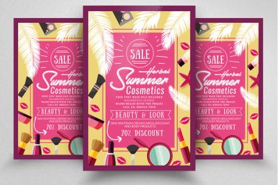 Sale on Beauty Cosmetics Flyer Template
