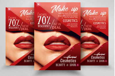 Cosmetic Sale Offer Flyer Template