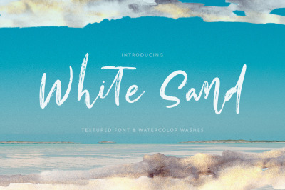 White Sand. Font + Extras.