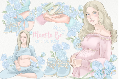 Mother to be PNG Clip Art. Pregnancy Baby Shower Boy graphics. Mommy