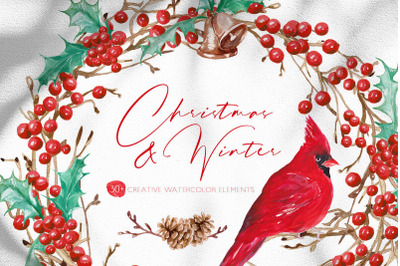 Christmas and Winter | Graphic Watercolor Set