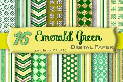 Emerald Green Digital Paper Pack