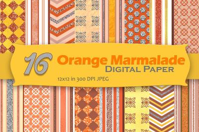 Orange Marmalade Digital Paper