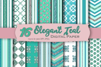 Elegant Teal Digital Paper