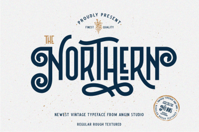 Northern (5 fonts with extras)