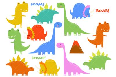 Dinosaur Clipart, Prehistoric Animals