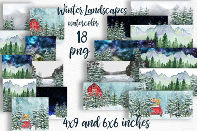 Winter background Holiday scenes Landscapes Mug Desigs