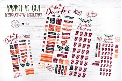 December Planner Stickers Set
