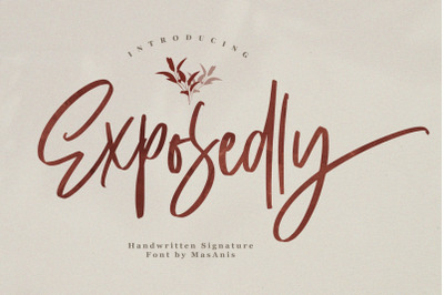 Exposedly - Signature Font
