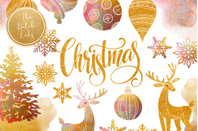 Christmas Ornament Clipart Set