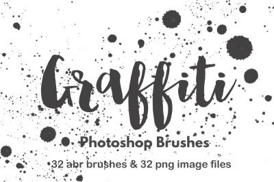 Spray paint splatter graffiti photoshop brush