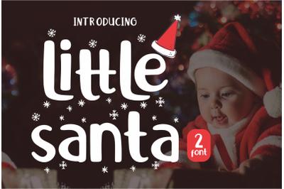 Little Santa Font   merry christmas font