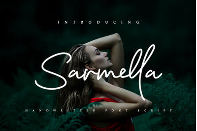 Sarmella - Handwritten Font Script