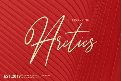 Arctics Signature Brush Font