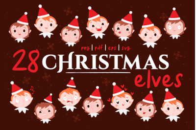 Christmas elves emojis