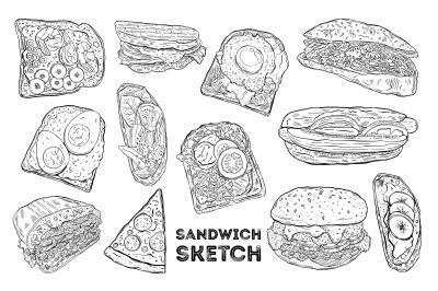 Sandvich sketch set