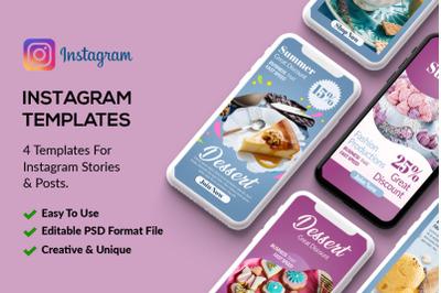 Bakery & Sweet Instagram Stories