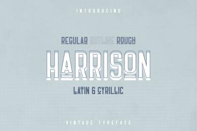 Harrison - Retro typeface
