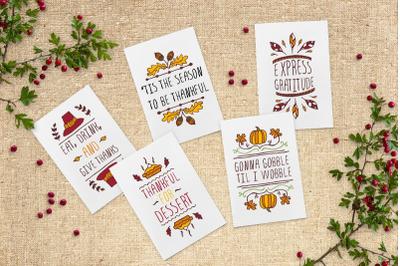 5 Thanksgiving greeting cards