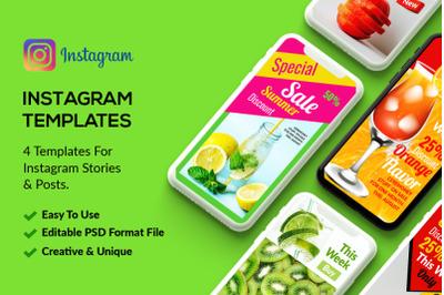 4 Instagram Stories - Summer Juice