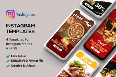 4 Instagram Stories - Food & Restaurant