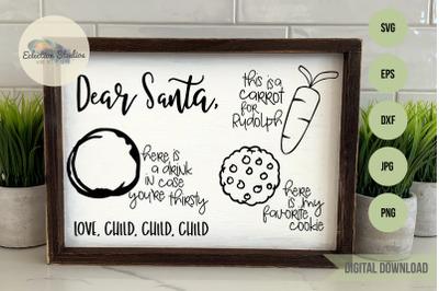 Santa Tray SVG, Cookies for Santa, Dear Santa
