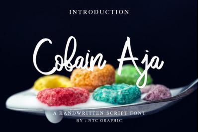 Cobain Aja Handwritten Script Font