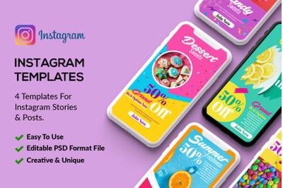 4 Instagram Stories - Bakery & Sweet