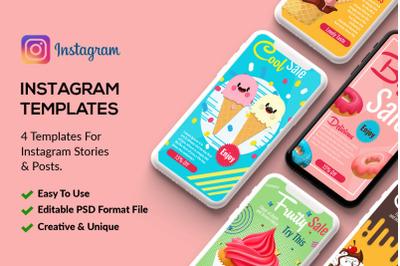 4 Instagram Stories Ice Cream Shop