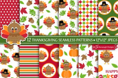 Thanksgiving digital paper, Thanksgiving patterns -P45