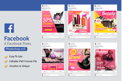 6 Fashion & Cosmetics Product Facebook Posts
