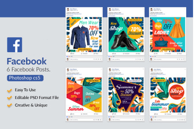 6 Fashion & clothes Product Facebook Posts