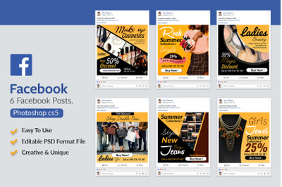 Fashion & Cosmetic Product Facebook Posts