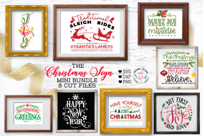 Christmas Home Signs Cut Files