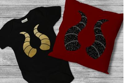 Dragon Horns | SVG | PNG | DXF