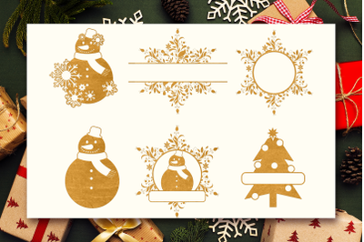 Christmas SVG Files & Monograms Pack
