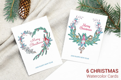 Greeting Cards with Christmas characters