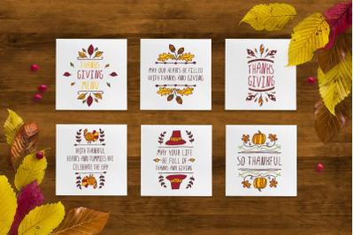 6 Thanksgiving greeting cards