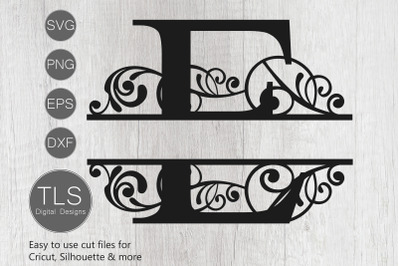 Letter E Split Monogram SVG, Split Monogram SVG, Letter E cricut