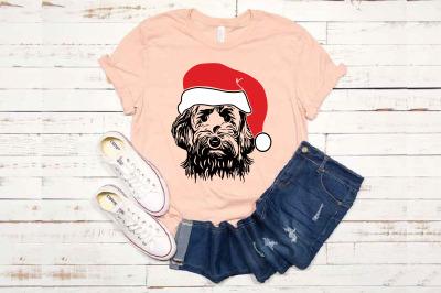 Goldendoodle Whit Christmas Hat SVG Santa's Elf santa Squad 1589s