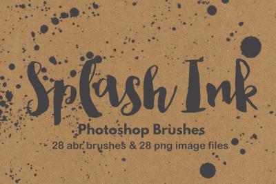 Paint splatter watercolor grunge photoshop brush