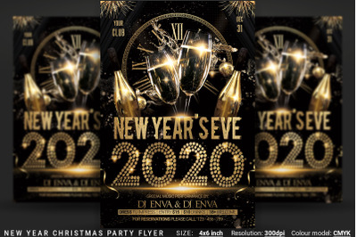 New Years Eve Christmas Party Flyer