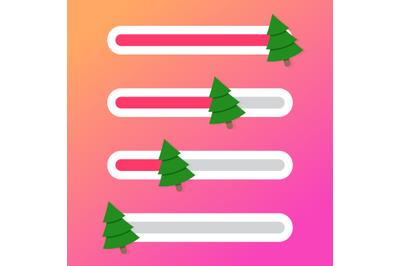 Indicator slider celebration christmas and new year