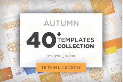 Autumn Collection / 40 Templates / 16 Icons / 4 Patterns
